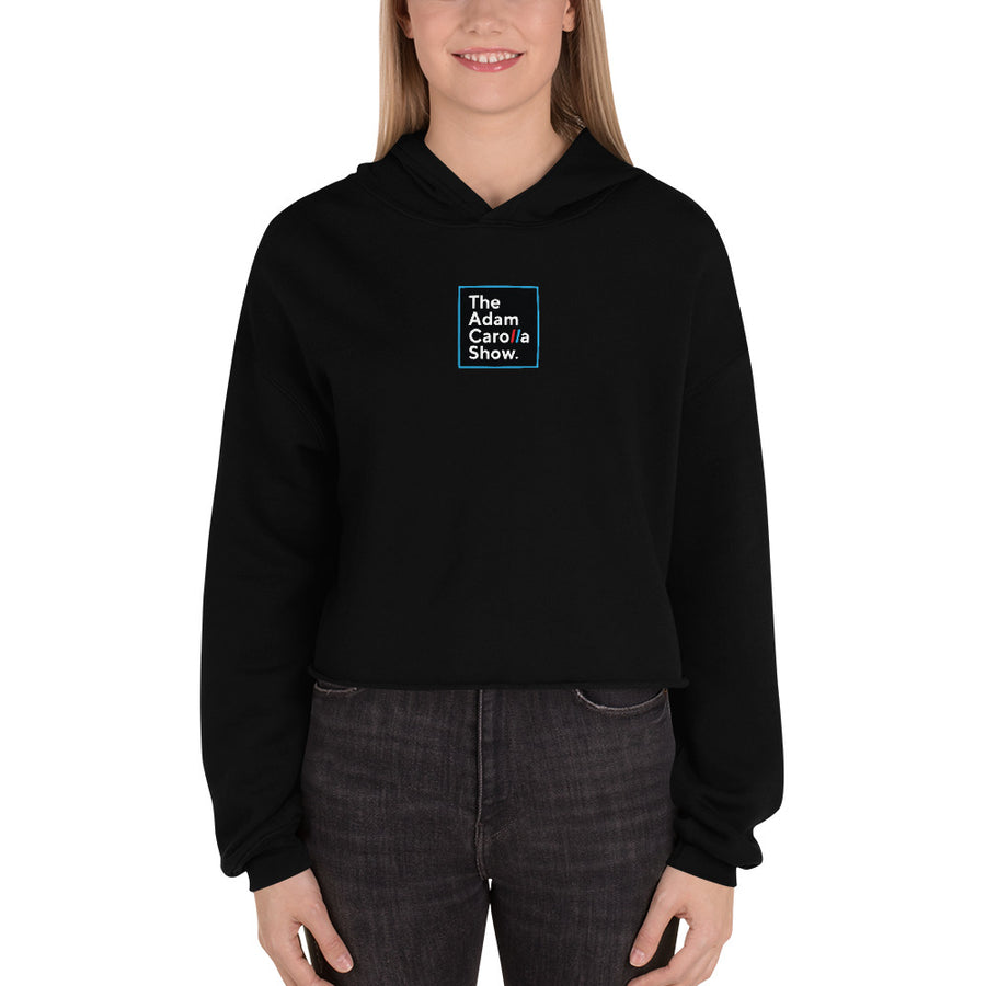 Women's Crop Hoodie, The Adam Carolla Show