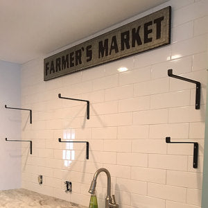 install brackets on tile