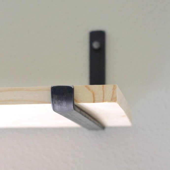 metal J bracket for floating shelves