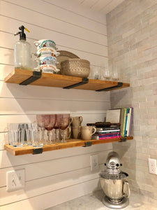 "Heavy Duty Floating Shelf Bracket - J Style 2"" Wide"