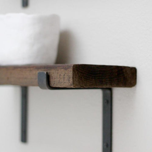 farmhouse shelf bracket for open shelves