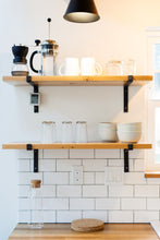 modern open shelving brackets