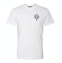 Load image into Gallery viewer, White Logo Drip Tee