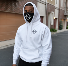 Load image into Gallery viewer, White No Hesi Hoodie