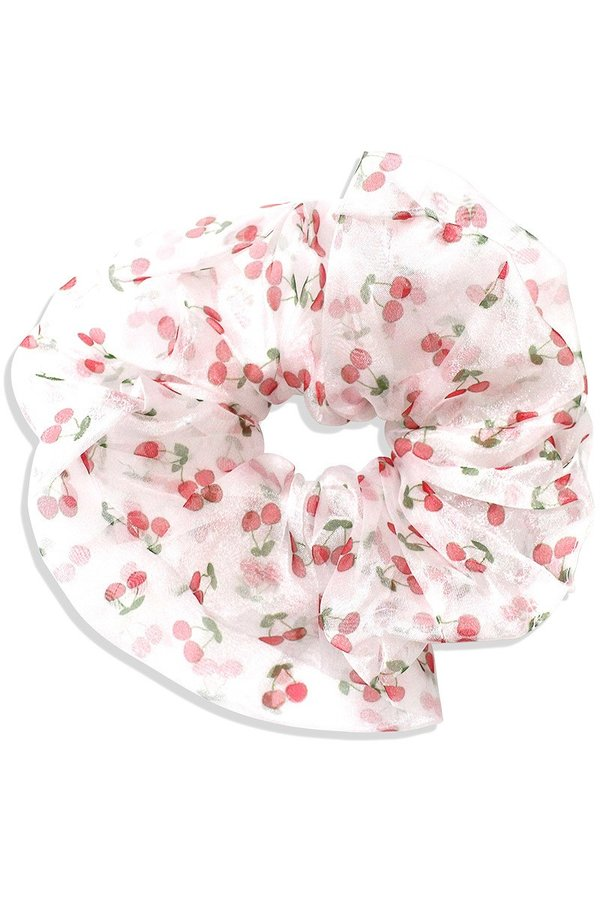 Large Cherry Scrunchie