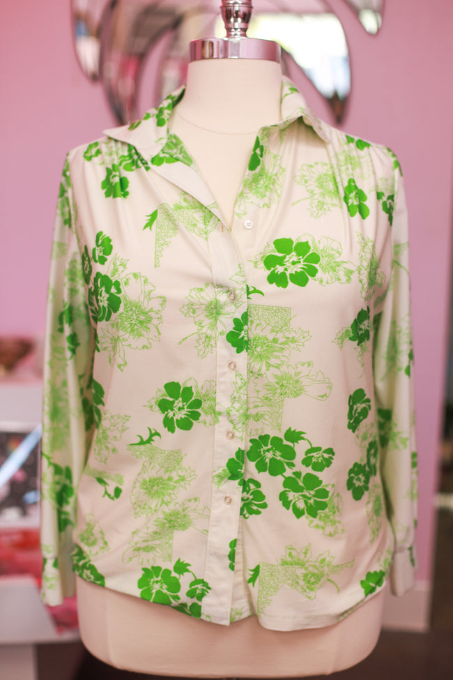 1970's Poly button-up from Ship to Shore