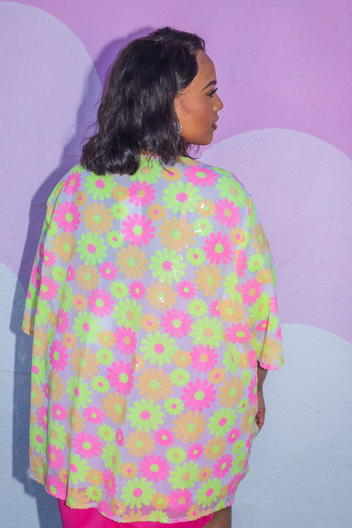 Psychedelic Daisy Robe - Final Sale