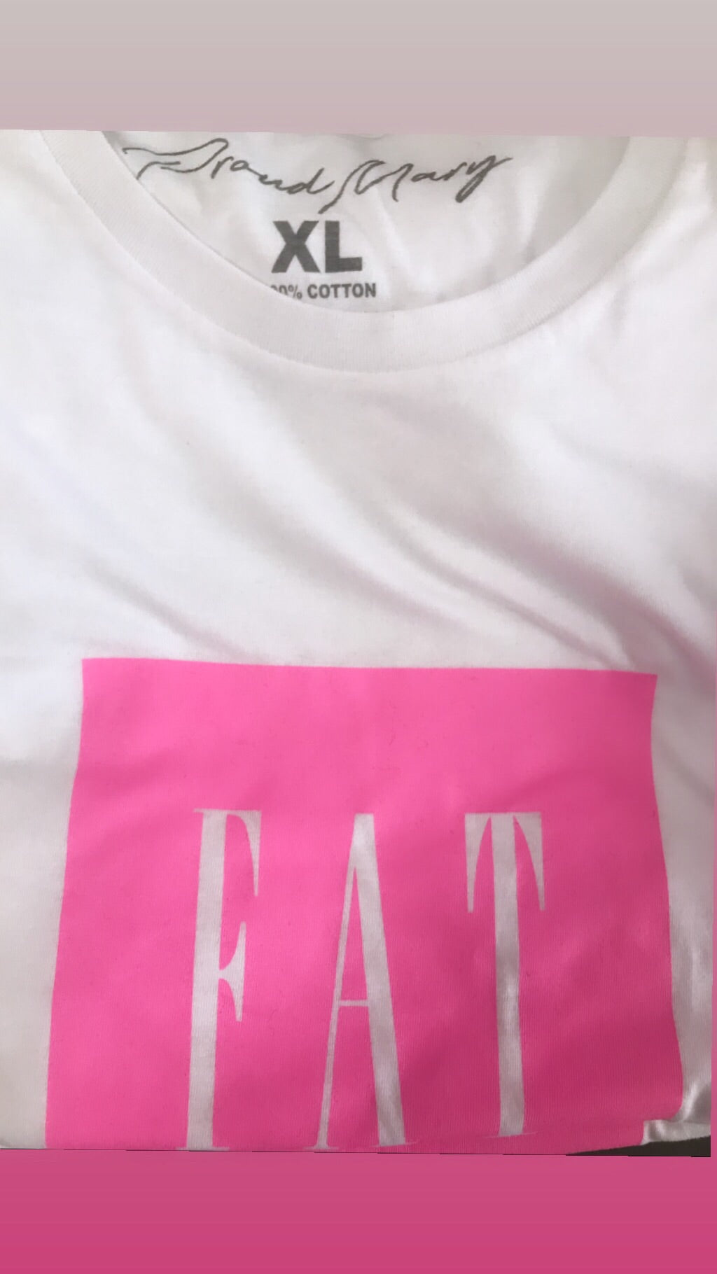 Fat Tee - Pink