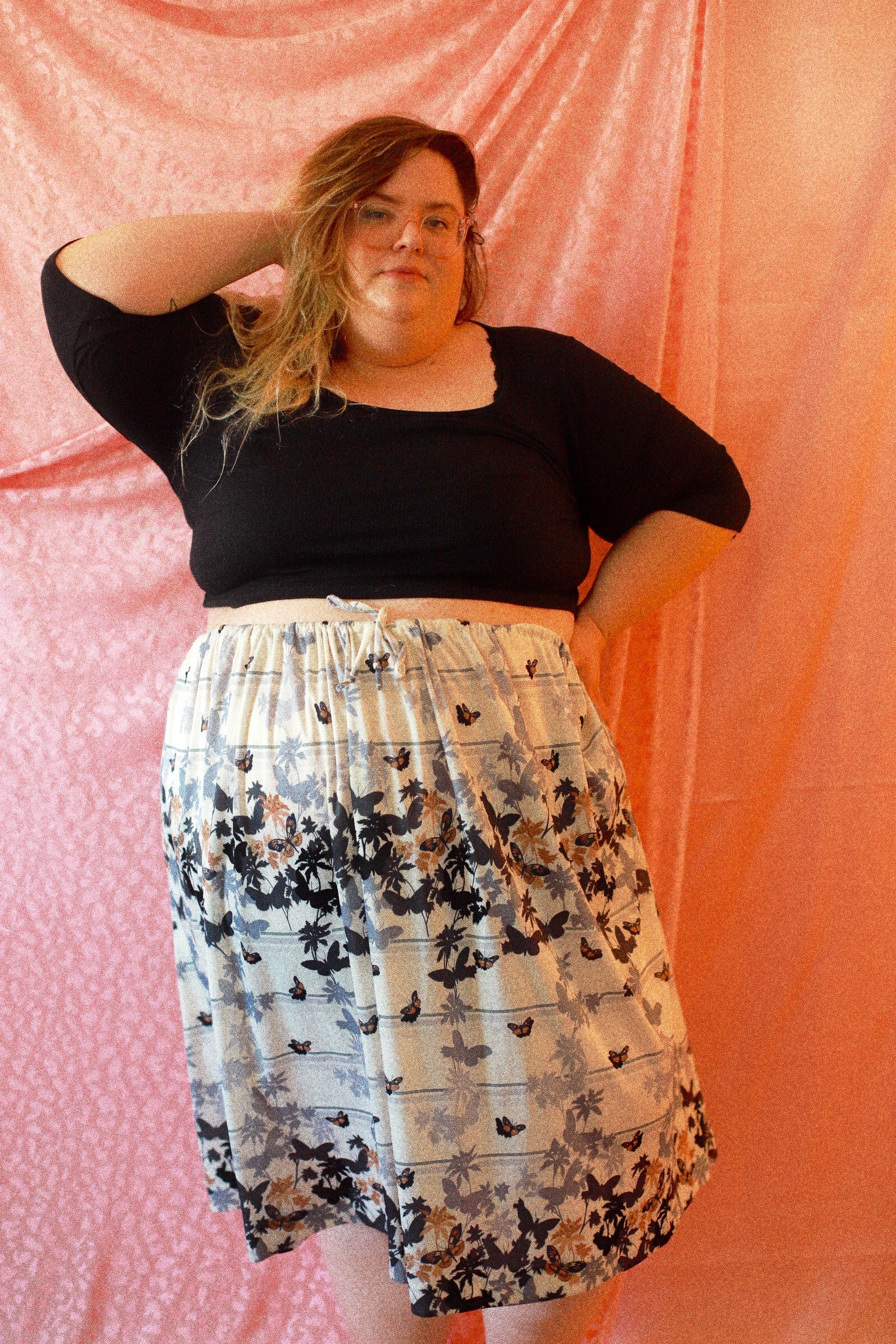 70's Butterfly Skirt - Open size