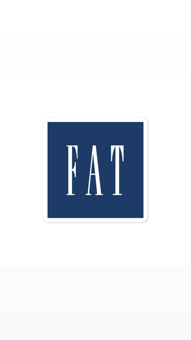 Fat, Inc Classic Bubble-free stickers