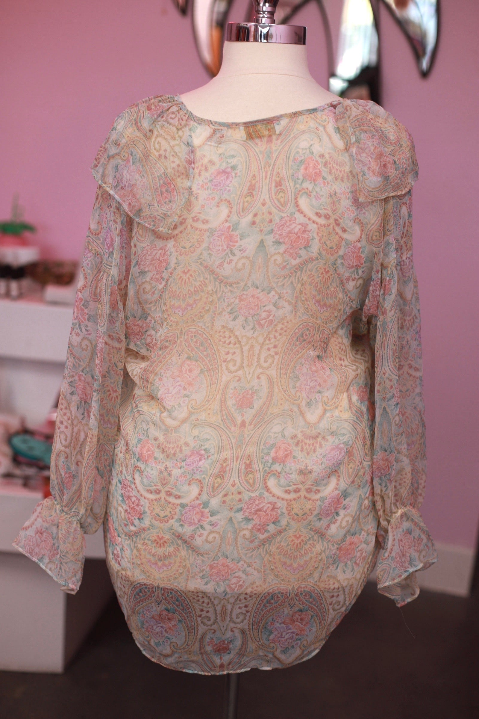 Vintage Oversized Flounce Top