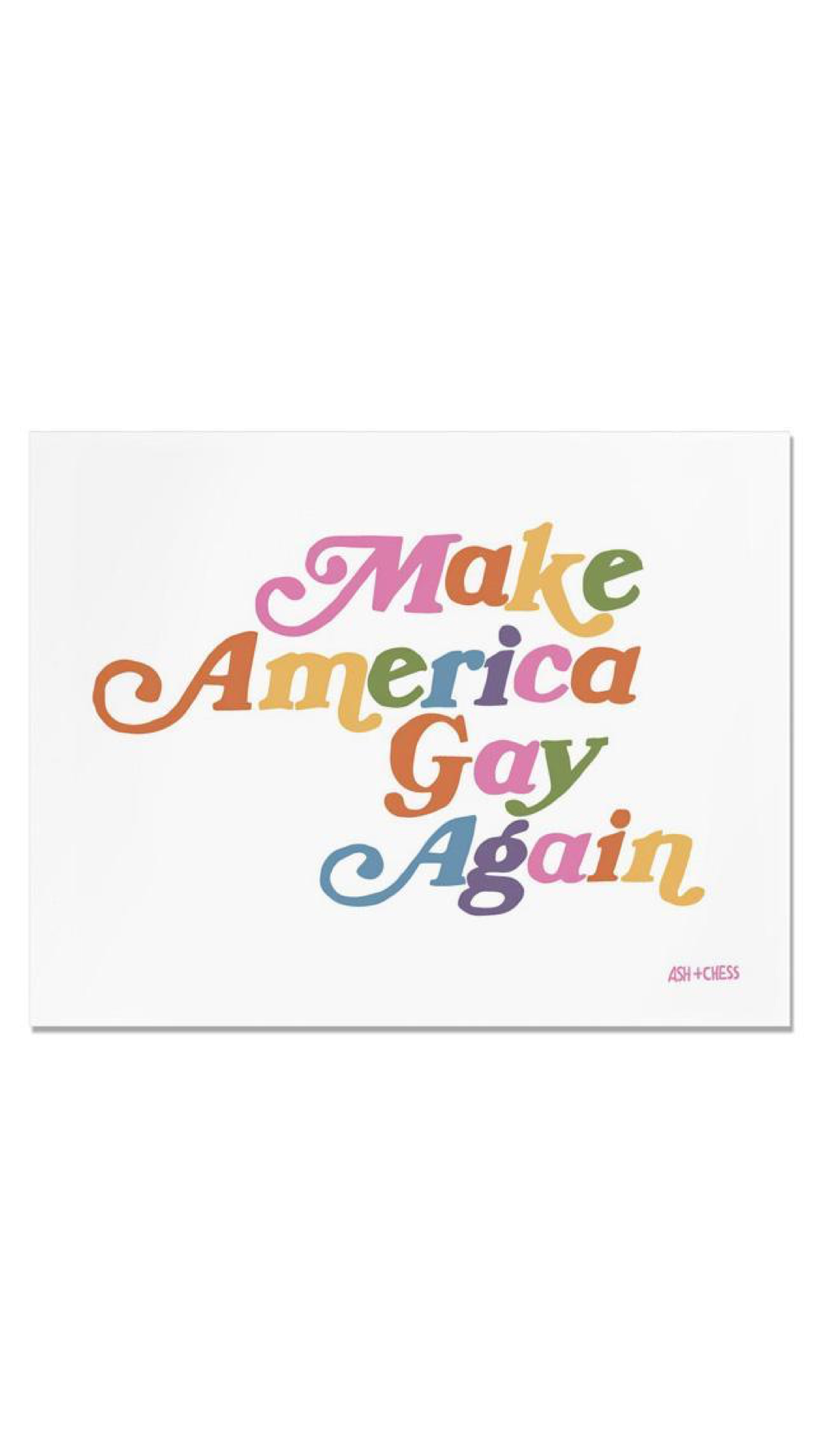 Make America Gay Again Print