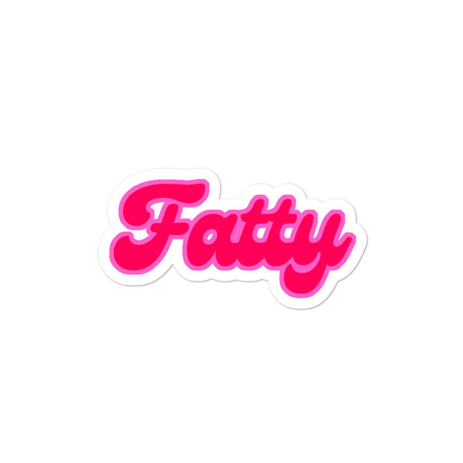 Fatty Vinyl Sticker