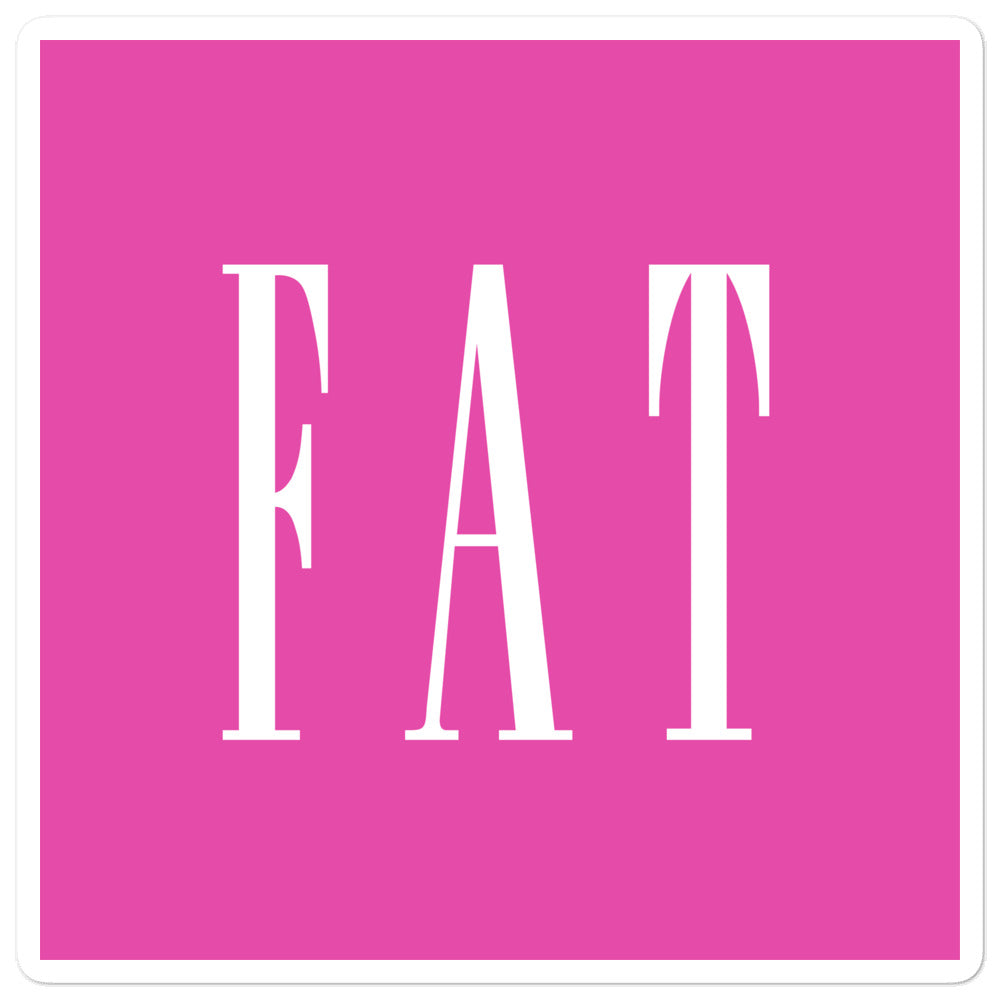 Fat, Inc Sticker in Pink