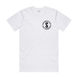 A white Sacramento Gear t-shirt with a white logo on the left chest.