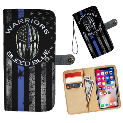 Thin Blue Line Wallet Phone Cases - for Police and Law Enforcement supporters