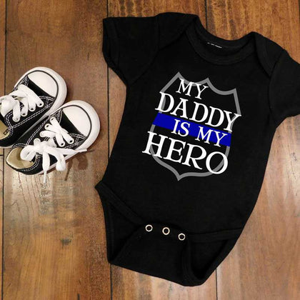 Thin Blue Line Baby Clothes (Bodysuits & Onesies) - for Police and Law Enforcement supporters