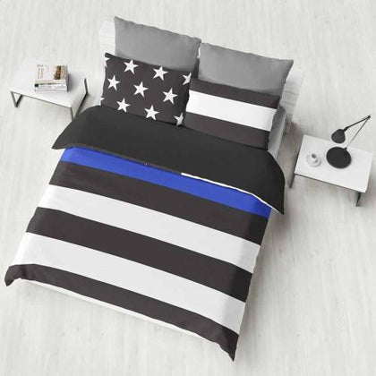 Thin Blue Line Bedding Sets - for Police and Law Enforcement supporters