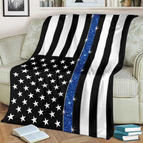 Thin Blue Line Blankets - for Police and Law Enforcement supporters