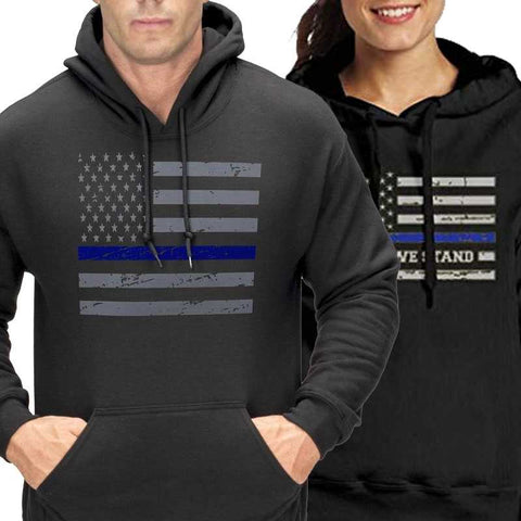 Thin Blue Line Hoodies - for Police and Law Enforcement supporters