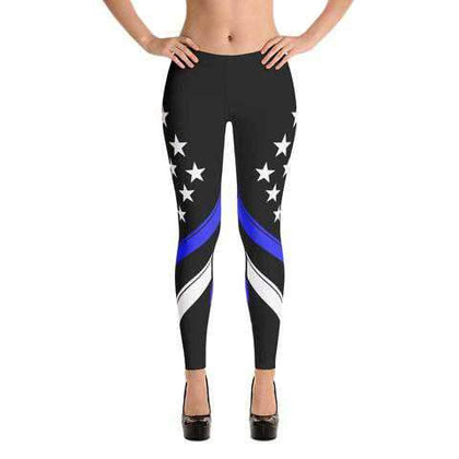 Thin Blue Line Leggings - for Police and Law Enforcement supporters