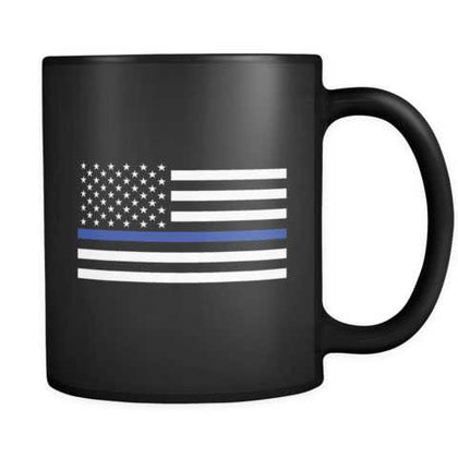 Thin Blue Line Mugs and Cups - for Police and Law Enforcement supporters