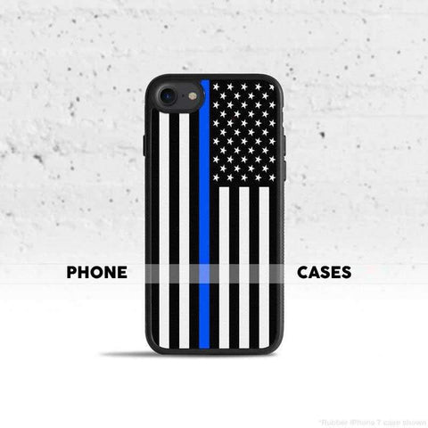Thin Blue Line Phone Cases - for Police and Law Enforcement supporters