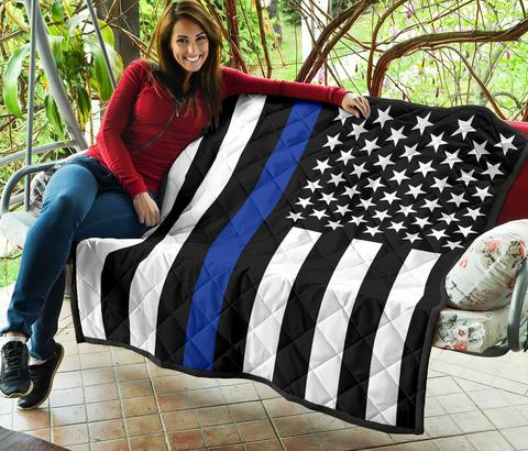 Thin Blue Line Quilts - for Police and Law Enforcement supporters