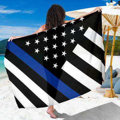 Thin Blue Line Flag Sarongs - for Police and Law Enforcement supporters