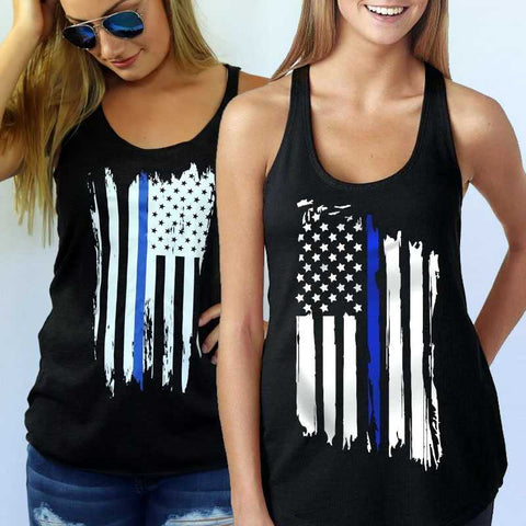 Thin Blue Line Women's Tank Tops - for Police and Law Enforcement supporters