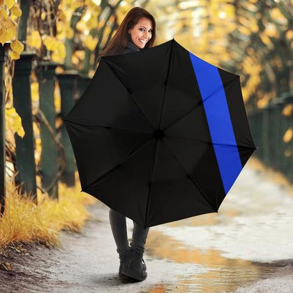 Thin Blue Line Umbrellas - for Police and Law Enforcement Supporters