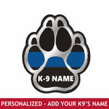 Personalized Sticker - K9 Paw