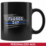 Personalized Mugs - Flag + Badge Number