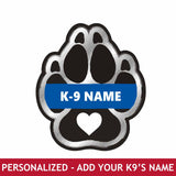 Personalized Sticker - K9 Paw Heart