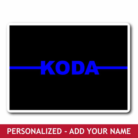 Personalized Sticker - Blue Line Name