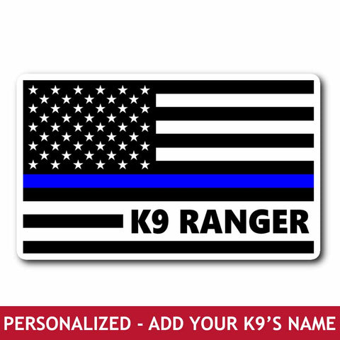 Personalized Sticker - K9 Flag
