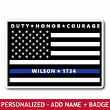 Personalized Sticker - Honor Courage