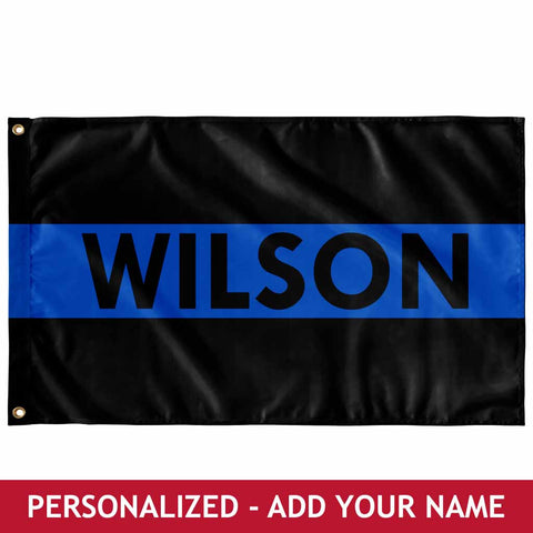 Personalized Flag - Thin Blue Line