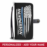 Personalized Phone Case Wallet - Flag