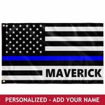 Personalized Flag - Thin Blue Line Flag