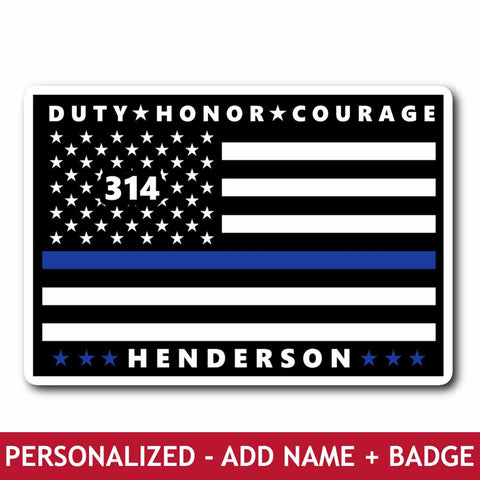 Personalized Sticker - Duty Honor