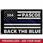 Personalized Flag - Back The Blue
