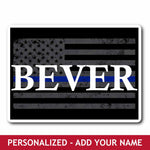 Personalized Sticker  Flag + Name