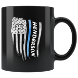 Personalized Mugs - Thin Blue Line Flag