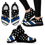 Women's - Thin Blue Line American Flag Sneakers