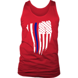 Thin Blue Line American Flag Waving - Tank top