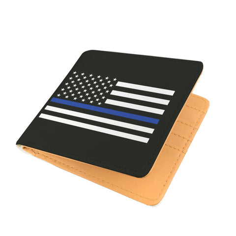 Thin Blue Line Flag Men's Wallet