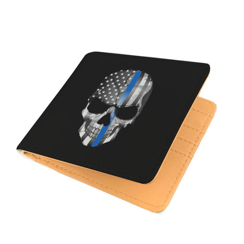 Skull Thin Blue Line - Men's Wallet