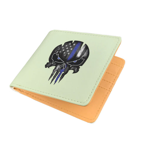 Punisher Skull - Thin Blue Line - Men's Wallet
