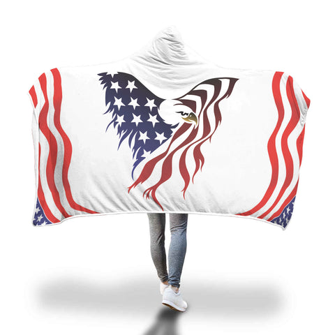 Cozy American Eagle - Hooded Blanket
